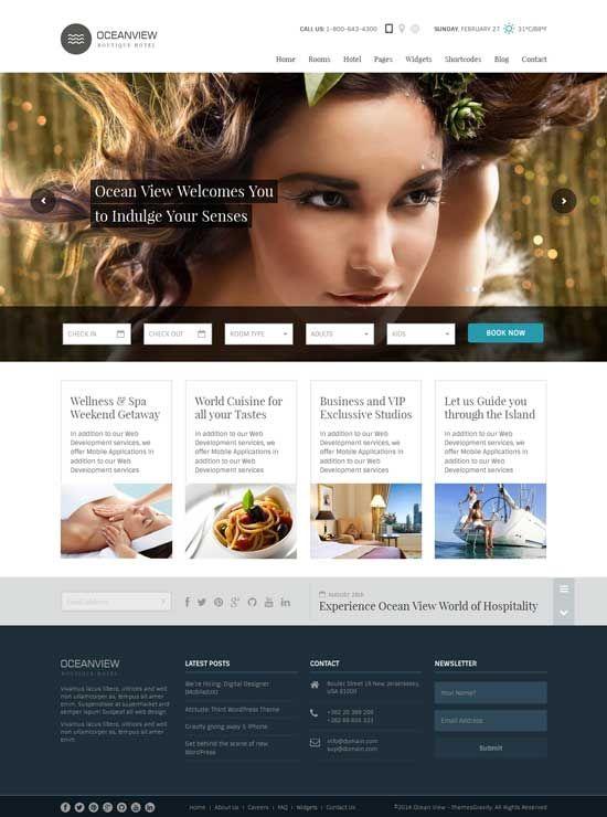 70 Best Hotel Website Templates Free Premium Best Hotel