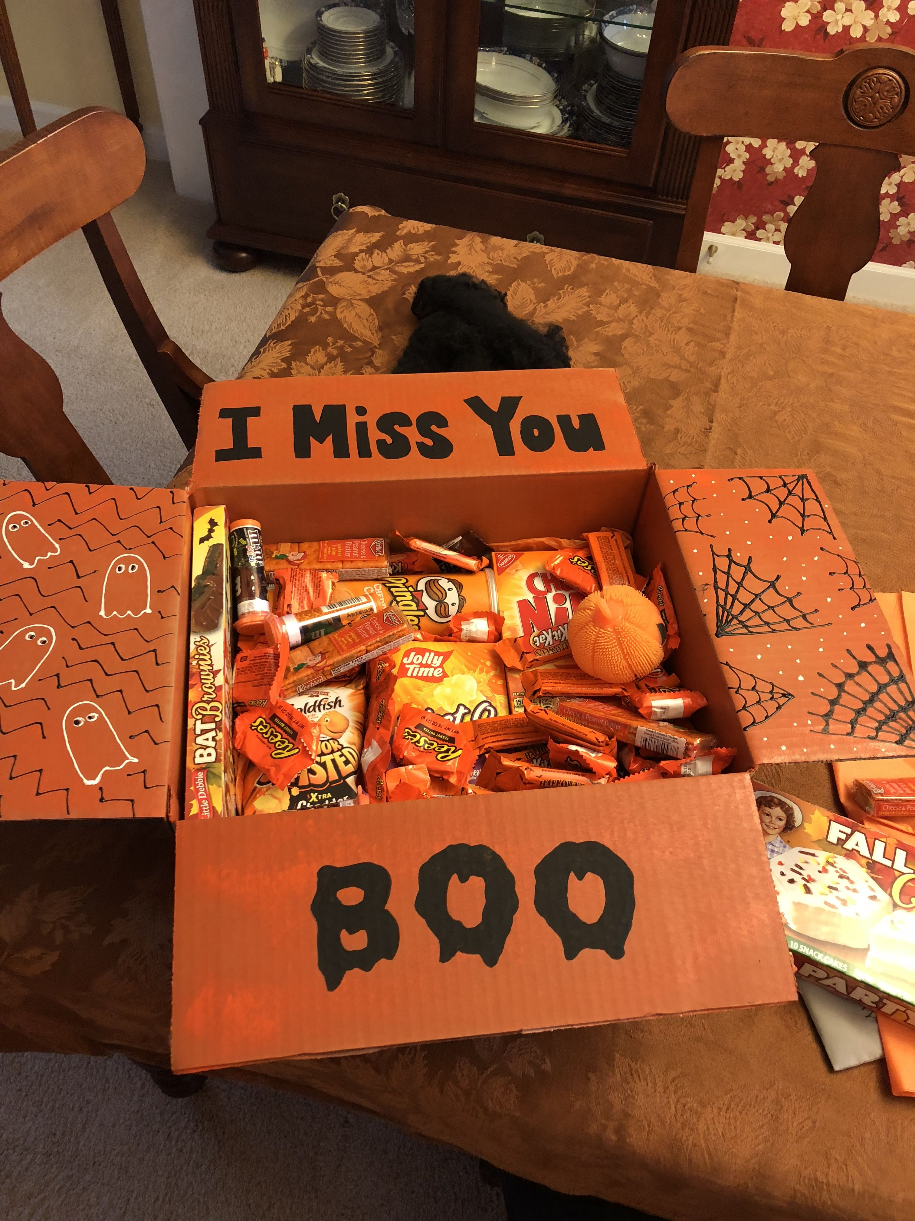 Halloween care package long distance box halloween care