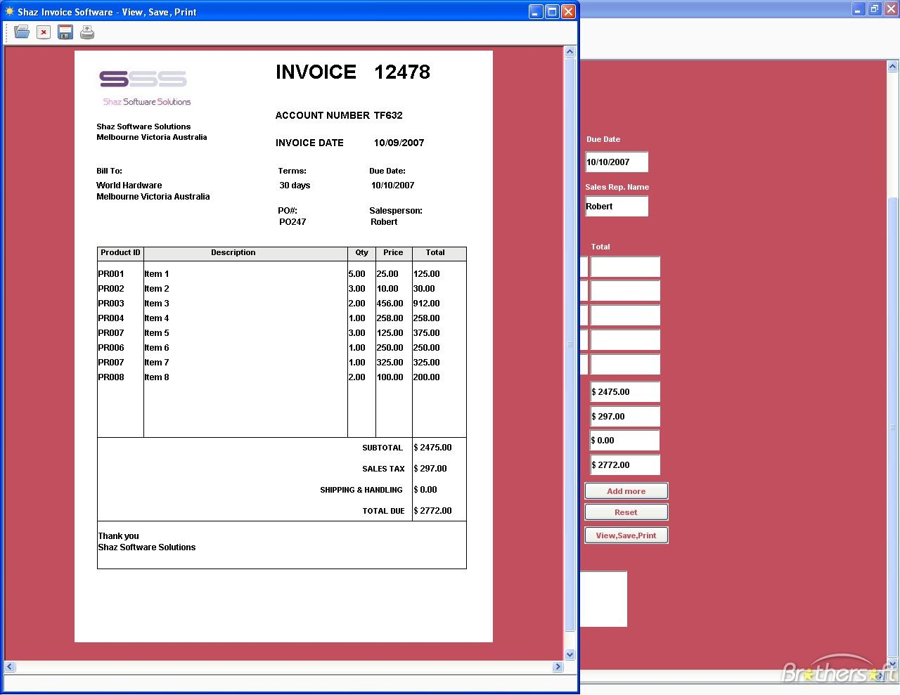 Download Free Shaz Invoice Software Shaz Invoice Software Free - Invoice maker software free
