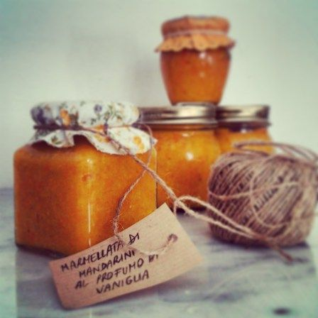 Mandarin and vanilla jam