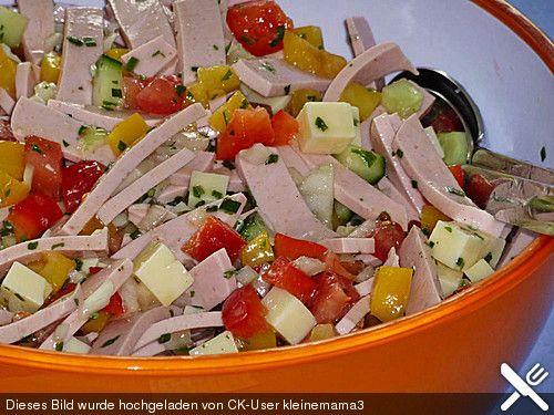 Pikanter Paprika - Käse - Wurst - Salat von Mutti79 | Chefkoch