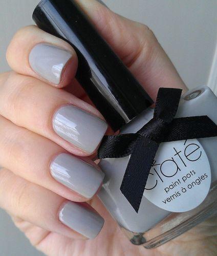 Ciate Paint Pots Nail Polish Lacquer Cream Soda Light Gray New, no bow, $6