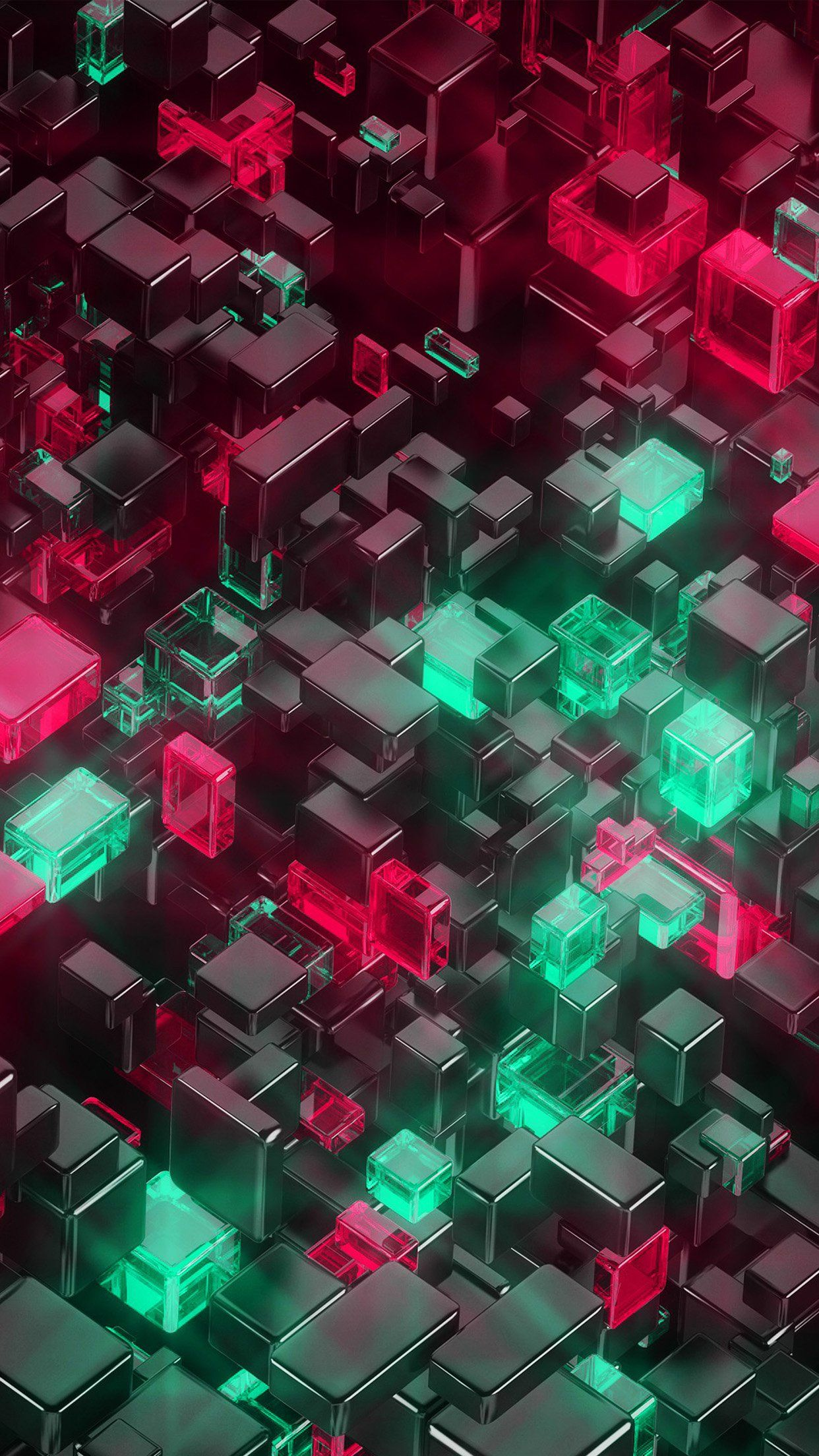 Digital Art Green Red 3d Pattern Android Wallpaper Android Wallpaper 3d Pattern Cool Wallpaper