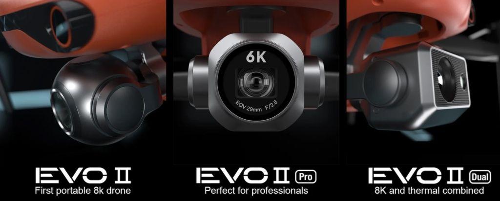【CES 2020】Autel EVO 2 系列空拍機 8K 拍片,1 吋感光,熱成像三規格登場 in 2020   Evo, Drone, New drone