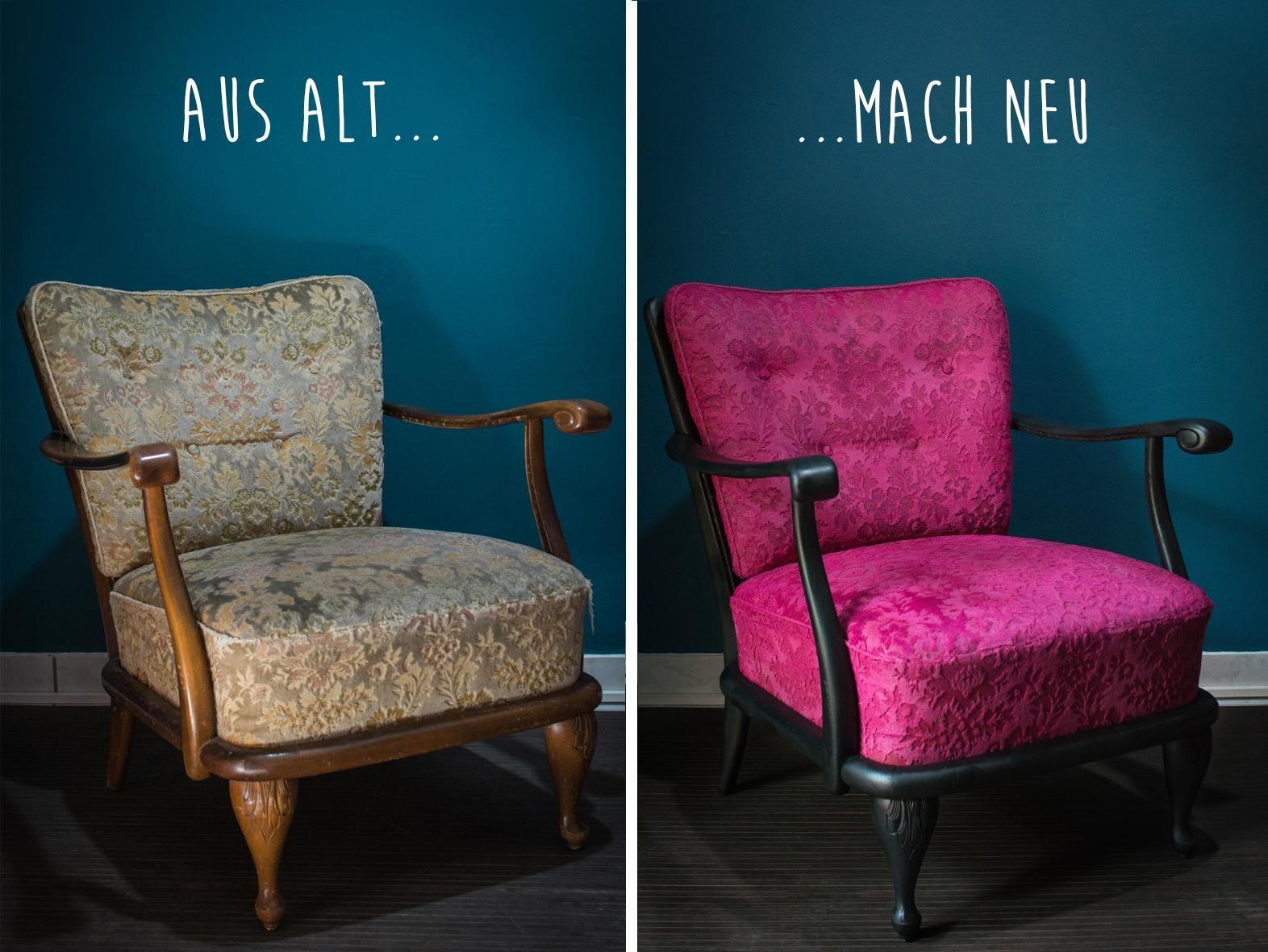 Die vor letzte Rettung Neuer Anstrich für alte Polster Painted Furniture