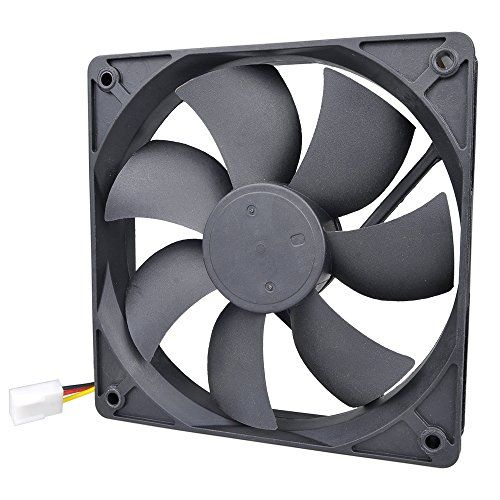 Pinfox 12v Dc Quiet Cooling Fan Variable Speed Control By 5v To 12v Input 120mm X 120mm X 25mm 3 Pin Dual Ball Bearin Pc Accessory Cooling Fan Computer Case