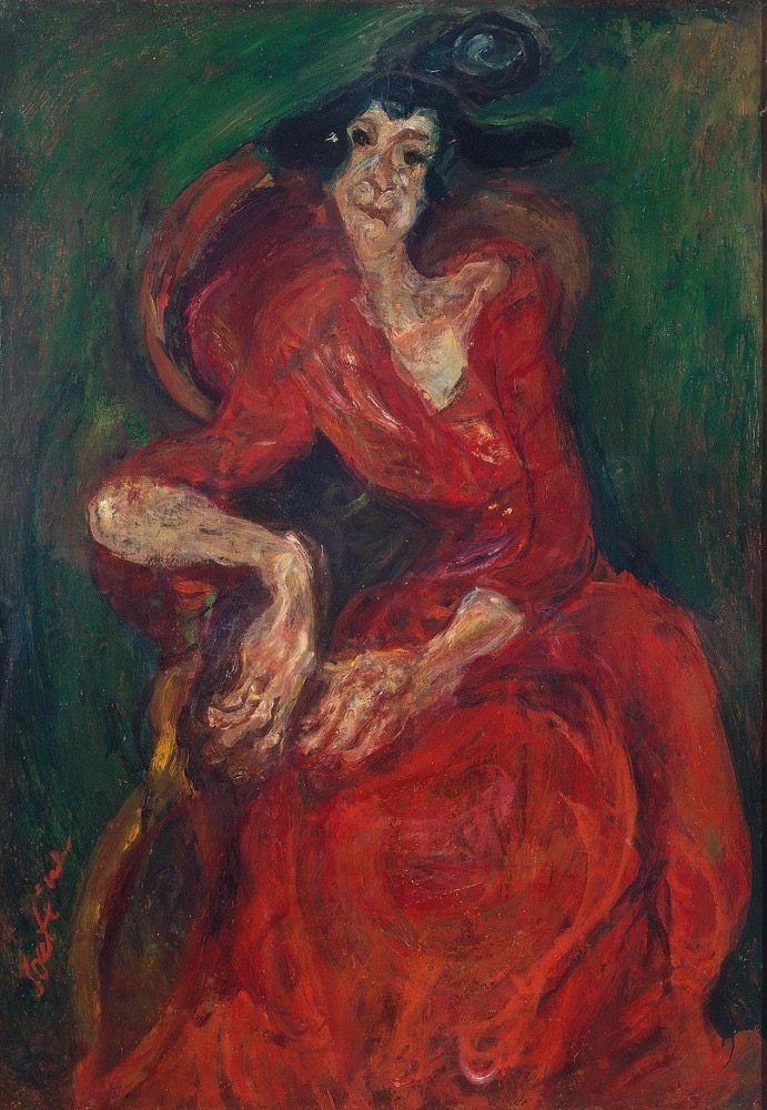 Chaïm Soutine - La femme en rouge, c. 1923-24.