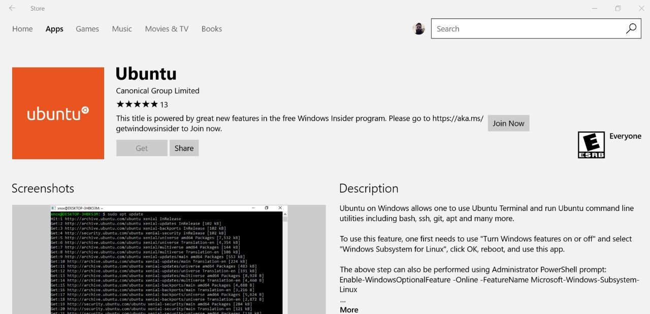 Microsoft Releases Ubuntu Linux for Windows 10 to the