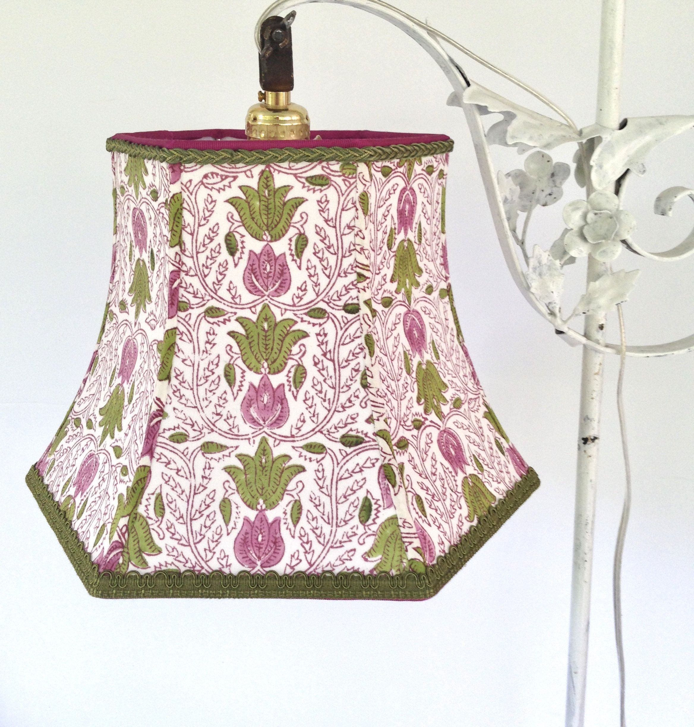 India Block Print Bridge Lampshade Uno