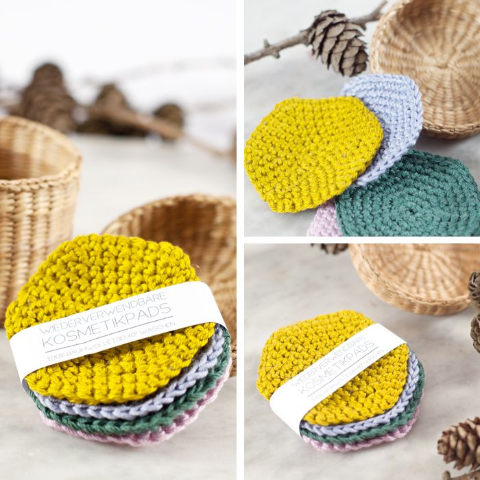 Photo of Crocheted cosmetic pads for reuse for less waste!