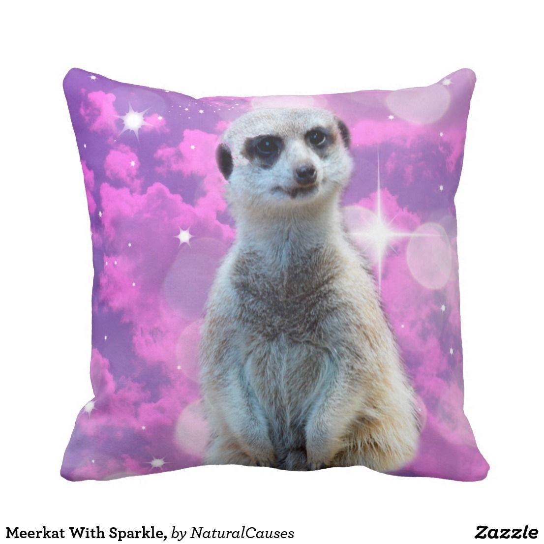 Meerkat With Sparkle Cushion