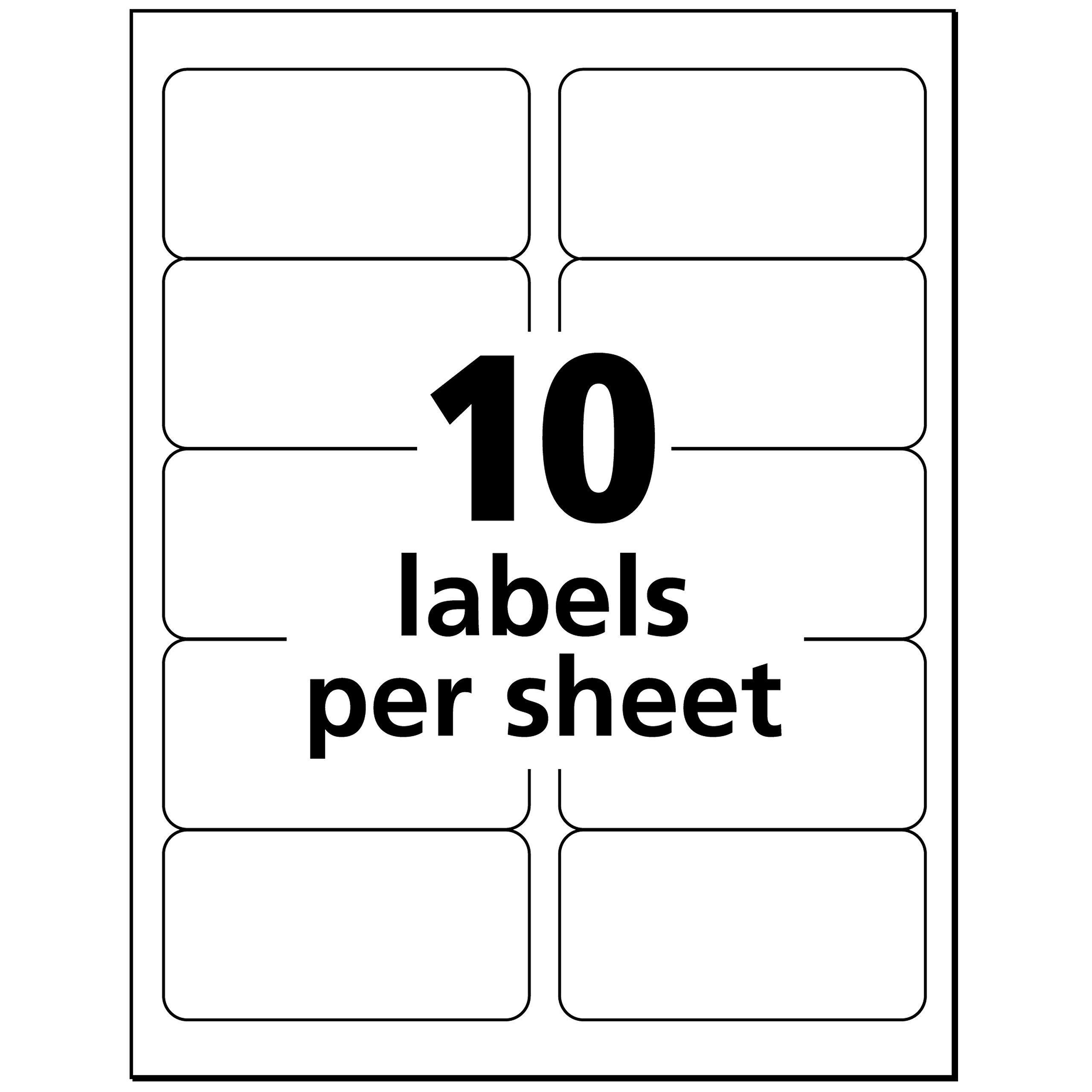 Avery Matte Frosted Clear Address Labels For Laser Printers 2 X 4 100 Labels 15663 Make Sure To Have A Label Templates Free Label Templates Printing Labels 8 labels per page template