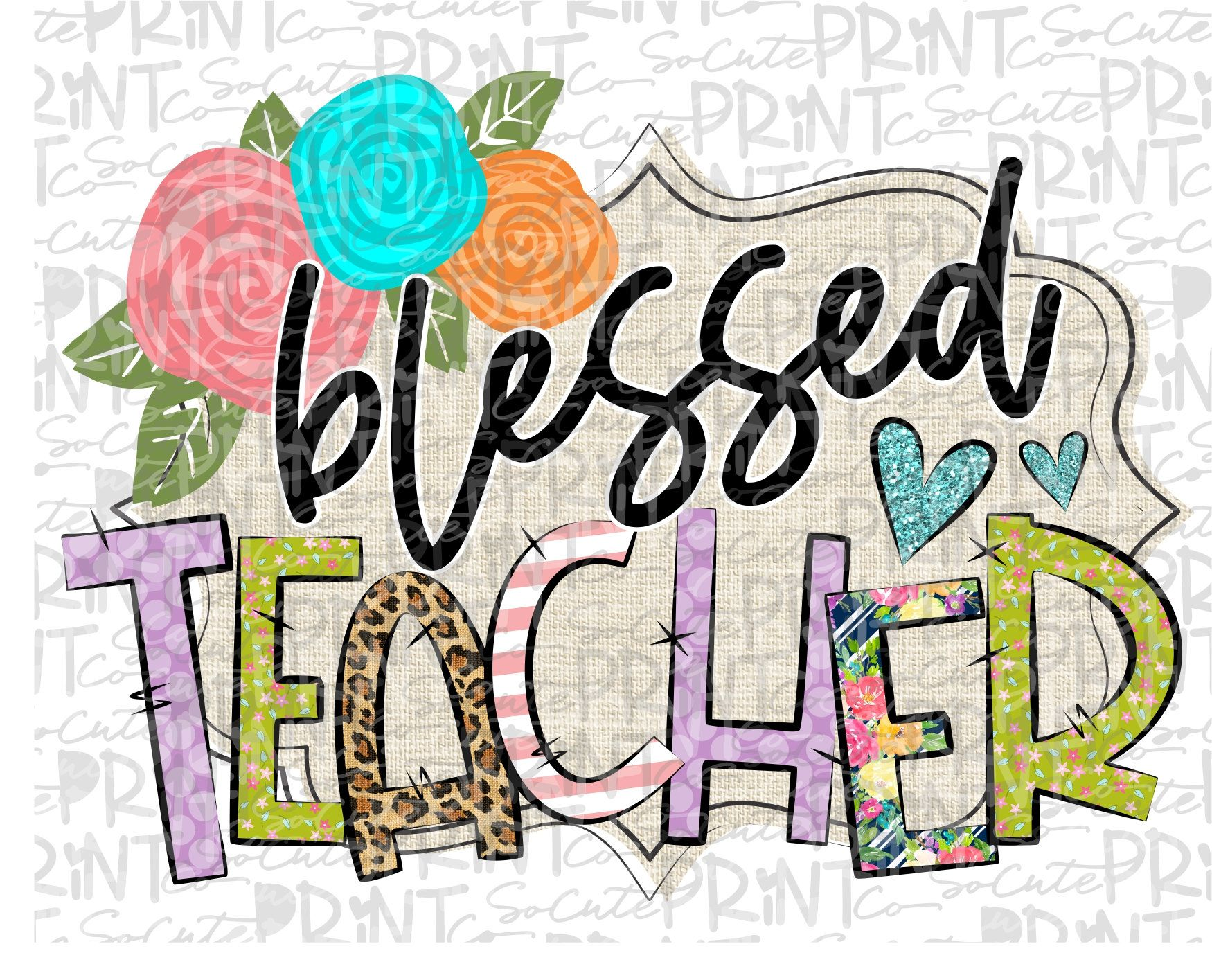 Teacher Clipart Blessed Teacher Clipart Back To School Png File