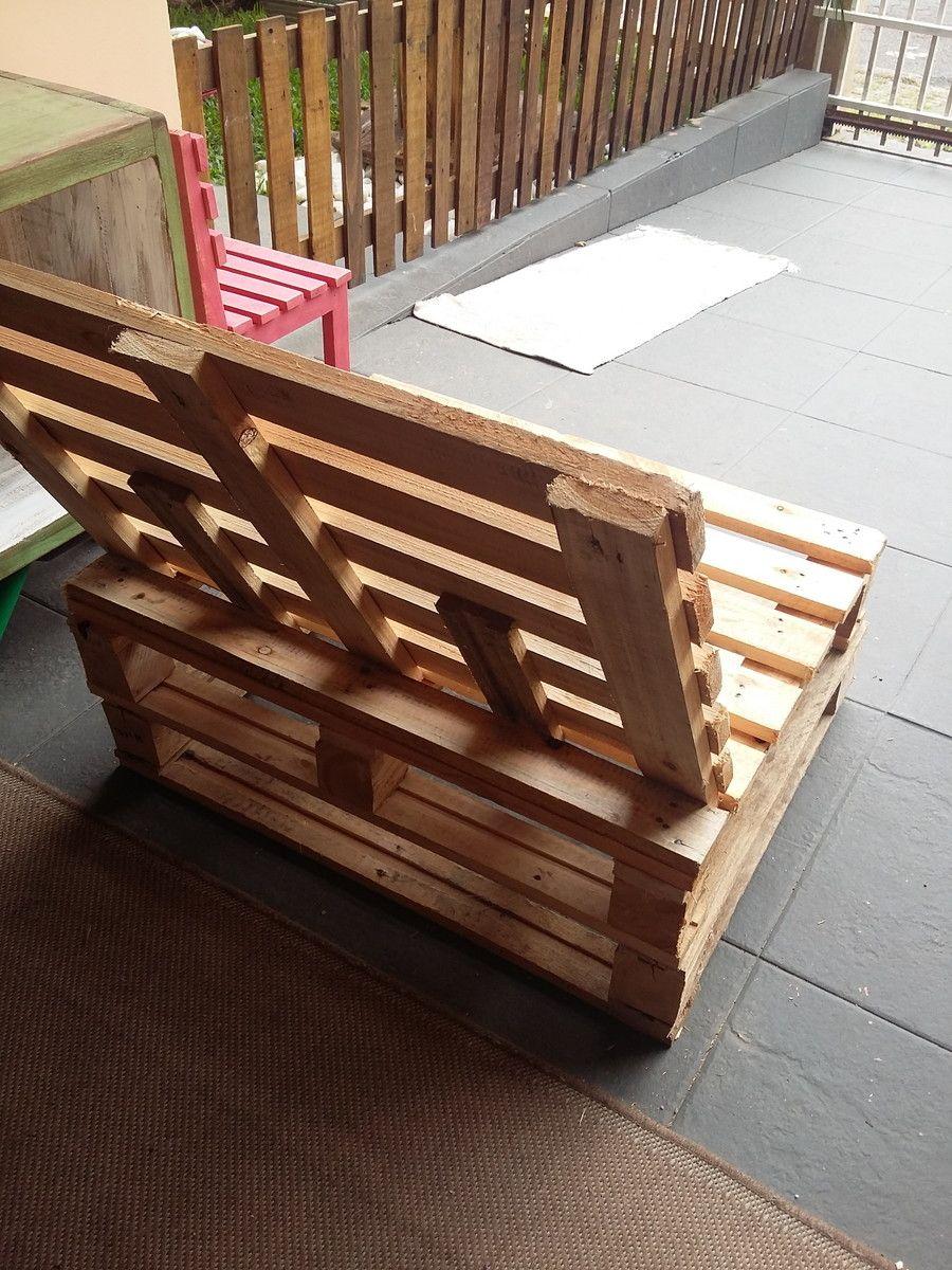Sofa de pallet madeira pallets and sofas - Sofa de pallet ...