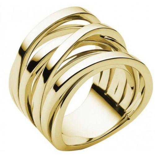 e0fed1b3dda34 MICHAEL-KORS-MKJ2597710-WOMENS-SIZE-8-INTERTWINED-GOLD-TONE-SS-RING-NEW-95