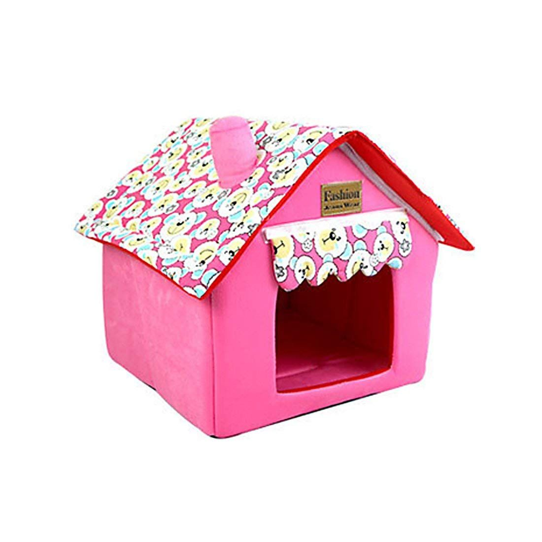 Foldable Pet House Pet Bed Dog Cat Soft Kennel Check Out This