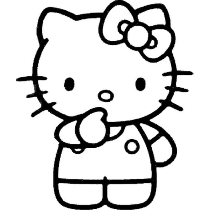 28 Pumpkin Stencils For The Best Hello Kitty Themed Halloween Hello Kitty Printables Hello Kitty Colouring Pages Kitty Coloring