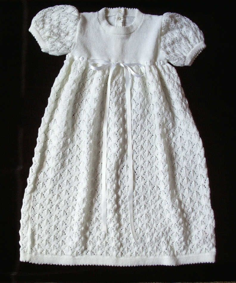 Free Knitting Pattern Baby Christening Gown : Knitted Christening Gown Patterns TERRIS KIDS: Christening Gowns and K...