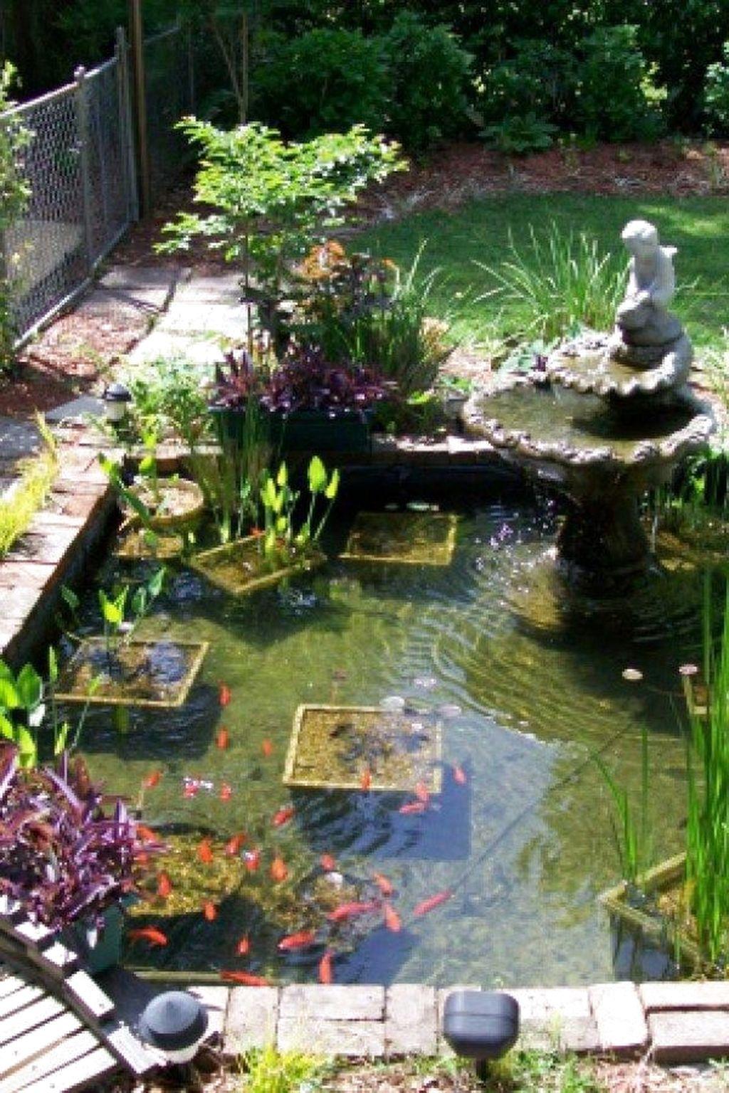 45 Favourite Pond Garden Ideas For Beautiful Backyard Pondgarden Gardenideas Backyardgarden Ponds Backyard Garden Pond Design Fish Pond Gardens