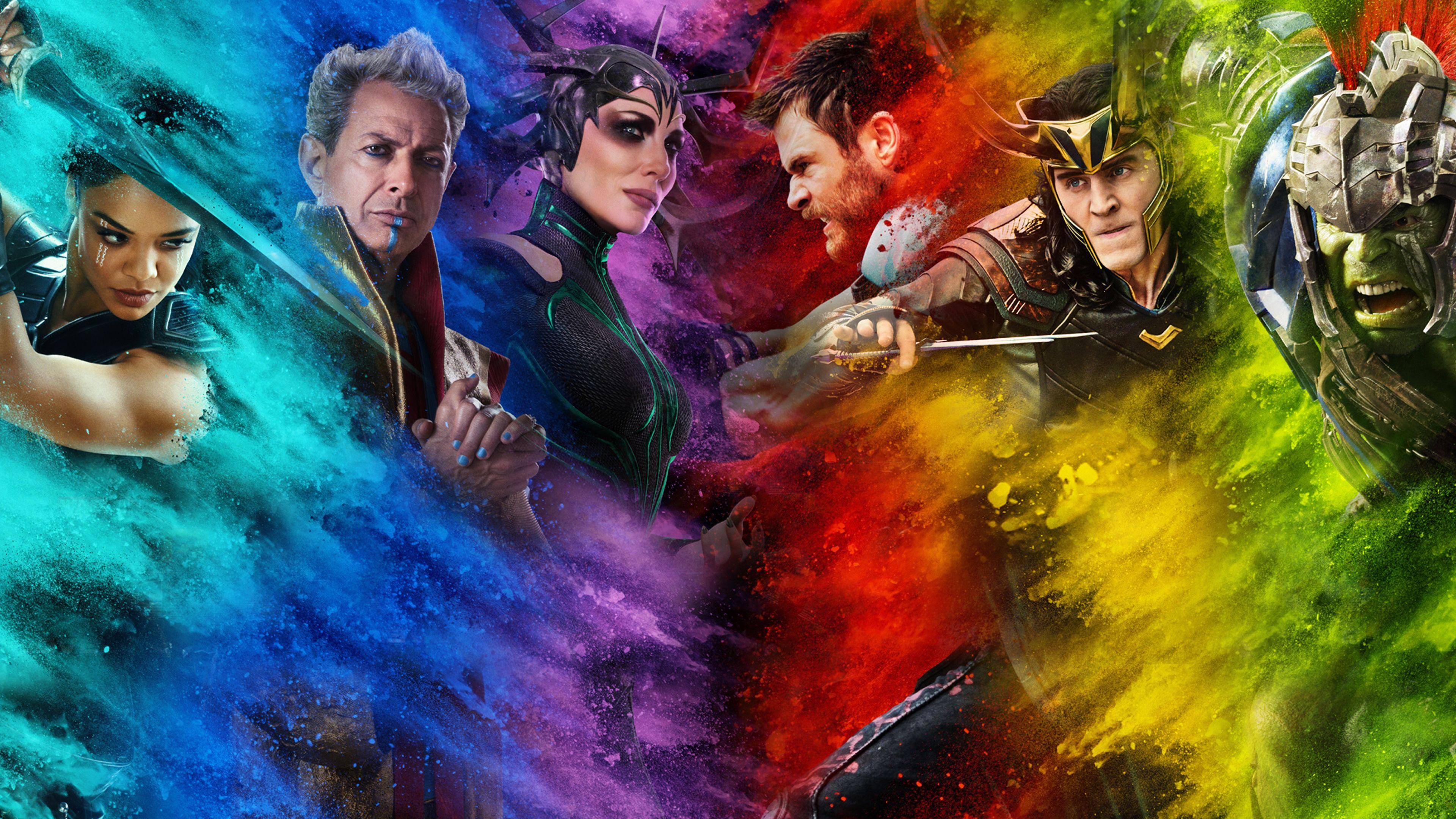 Uhd 4k Thor Ragnarok Characters Valkyrie Grandmaster Hela Thor Loki And Hulk Tessa Thompson Jeff Goldblum Cate Magnificos Chris Hemsworth Marvel Comics