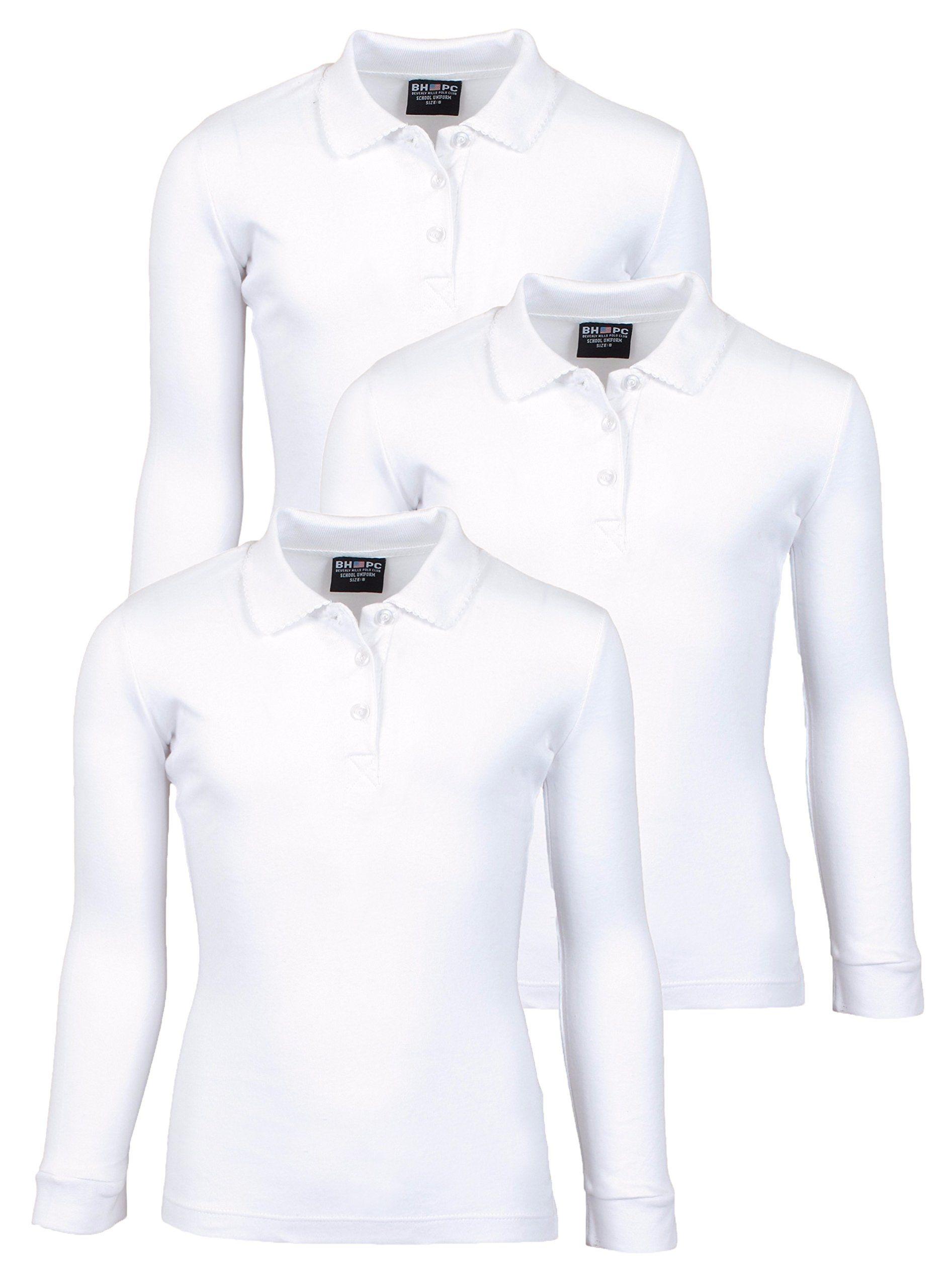 Beverly Hills Polo Club 3 Pack of Girls\ Long Sleeve Interlock ...
