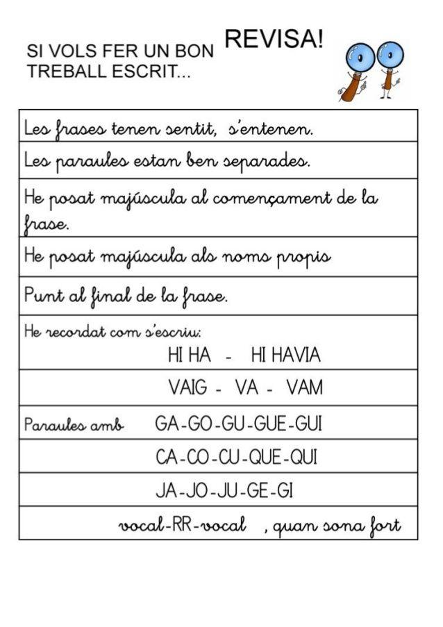 Rúbrica expressió escrita 2n   AUTOAVALUACIÓ   Pinterest ...