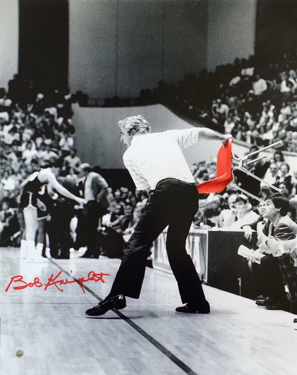 Signed bob mason picture 8x10 jsa view all bob mason - Bob Knight Indiana Hoosiers Signed 16x20 Chair Throw Photo Steiner Sports Integrity