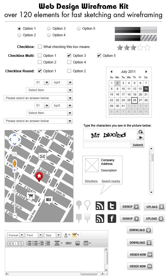 Web Design Wireframe Kit | Wireframe/Mockup/Prototyping Apps/Tools ...