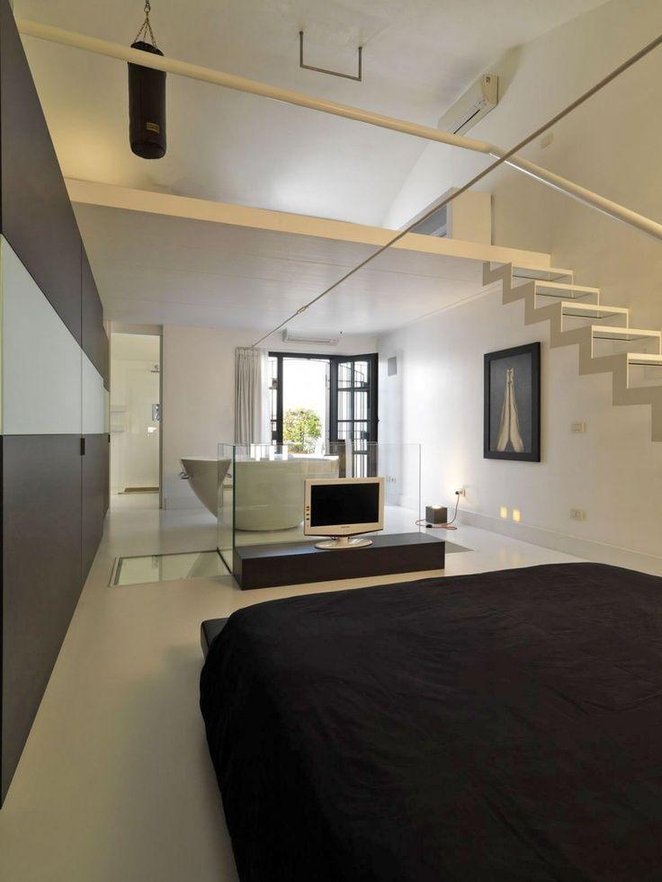 12 voorbeelden van een badkamer in de slaapkamer | Bathroom ideas ...