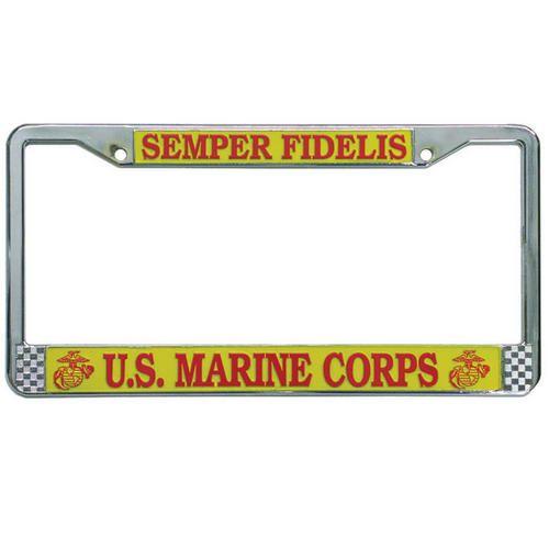 Semper Fidelis License Plate Frame | Semper fidelis, Marine corps ...