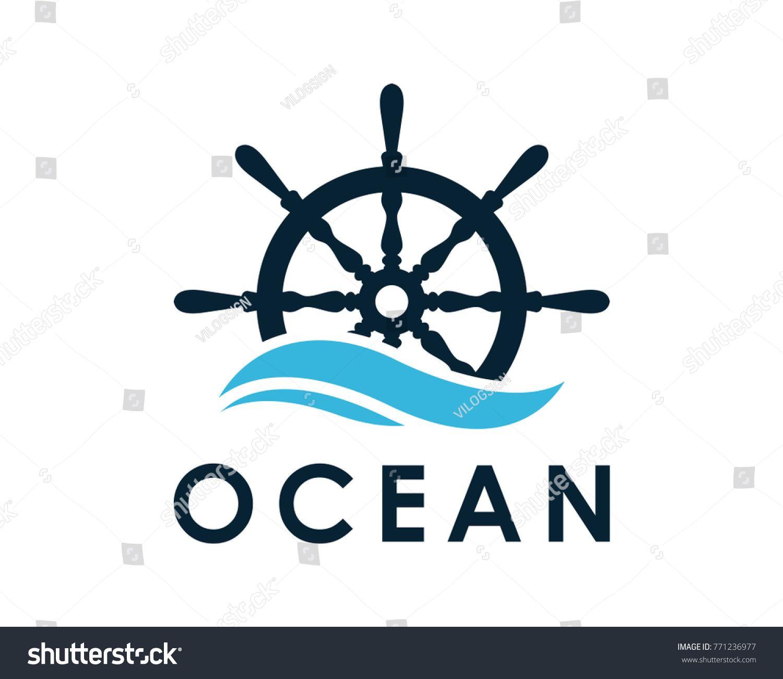 Ship Boat Helm Steering Wheel On Stock Vector Royalty Free 771236977 Boat Ship Logo True North Tattoo