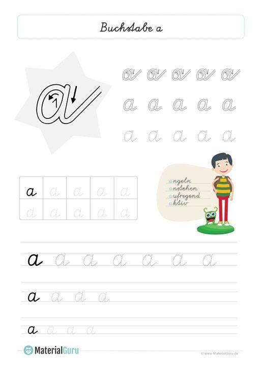 NEU: Ein kostenloses Deutsch-Arbeitsblatt zum Buchstaben A für die ...