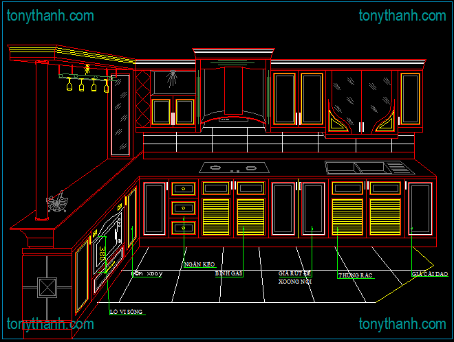Httpwwwtonythanhinteriorsautocaddrawingblockkitchen New Autocad For Kitchen Design Review