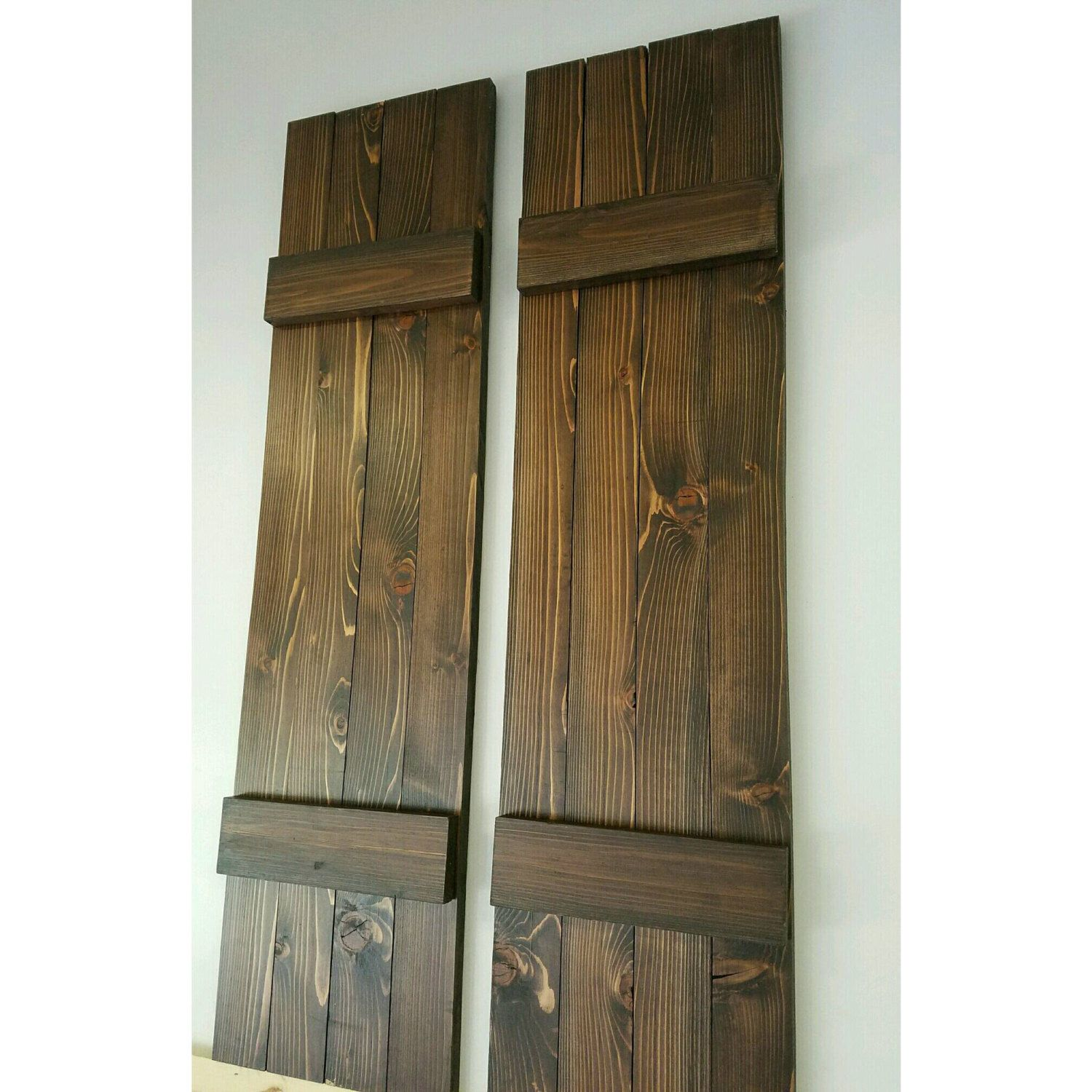 12 inch wide exterior wood shutters stained shutters farmhouse shutters cedar shutters curb