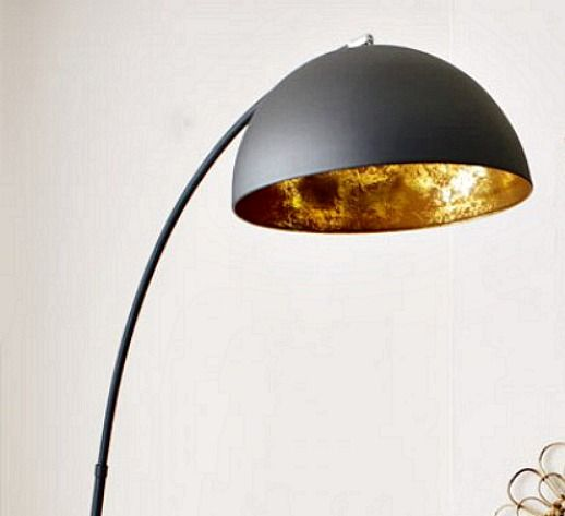 objects of design 215 the arc black and gold metal floor lamp
