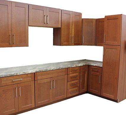 Jamestown Shaker Cherry Kitchen Cabinets Mutfak