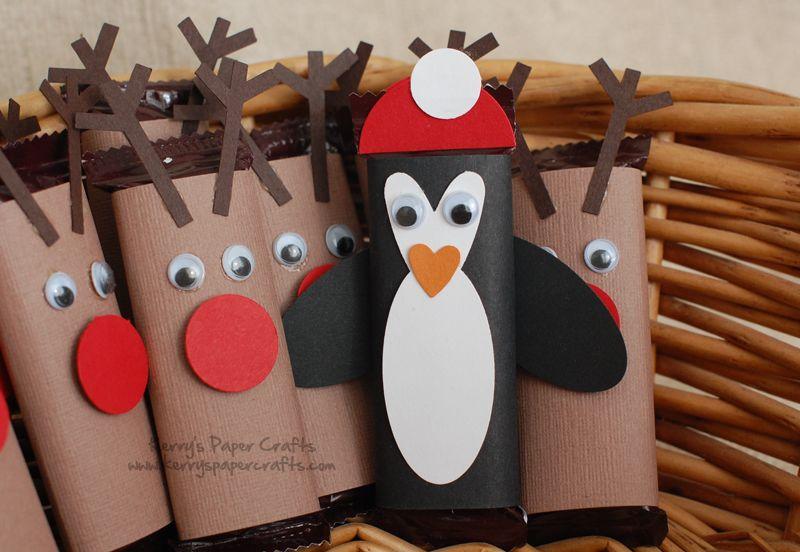 renos de rollos de papel mas pinguino