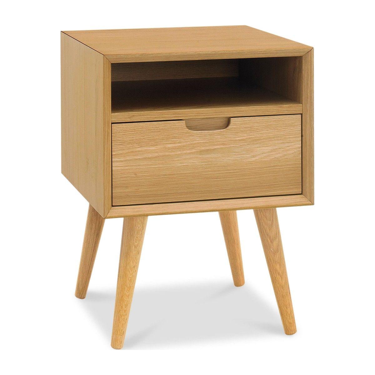 Orbit 1 Drawer Nightstand Oak Oak Nightstand Wooden Bedside