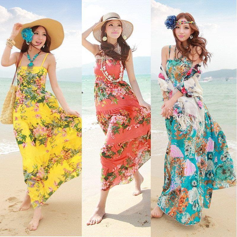 Reallycute Bohemian Beach Dresses 03085535 Color Woman Resort