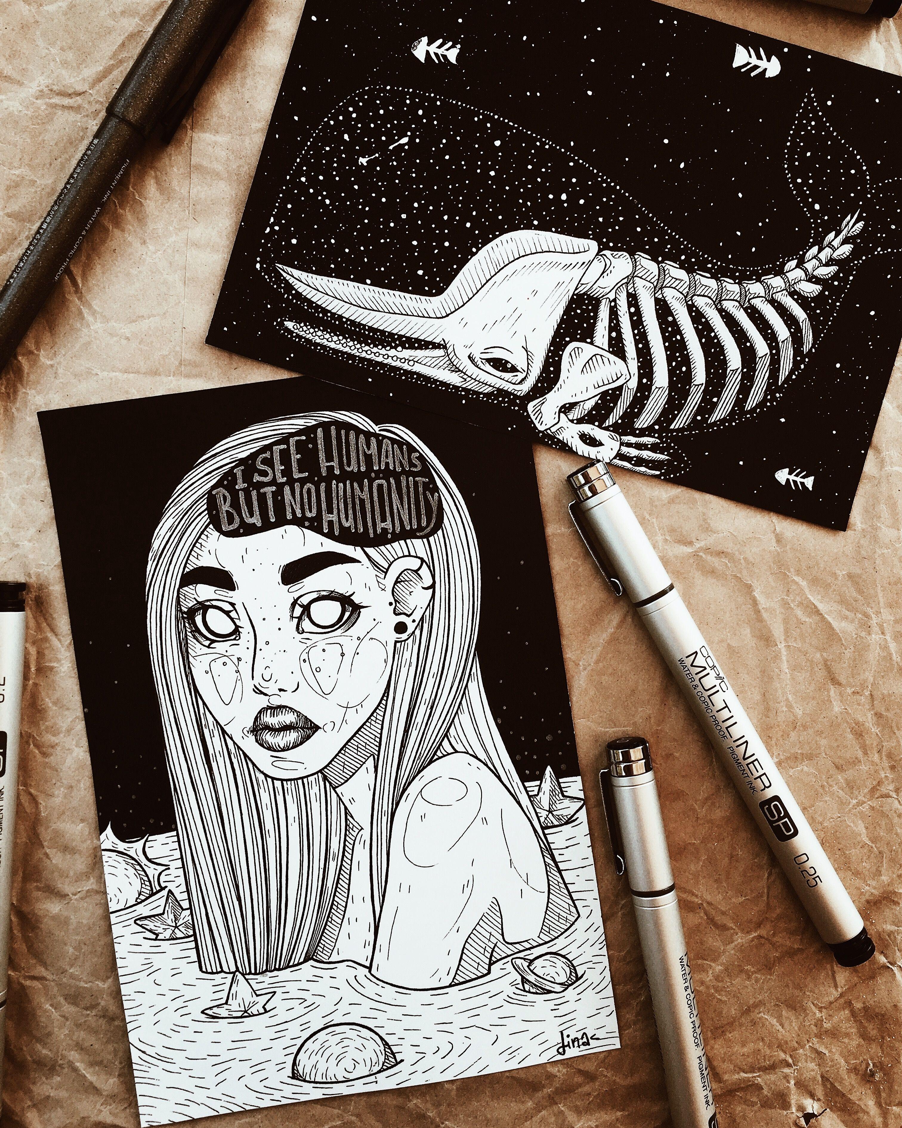 Вдохновляющие картинки для скетчбука маркером