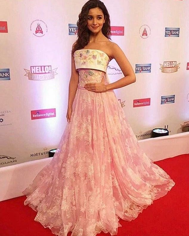 Alia Bhatt In Perfect Perms Pink Redcarpet Bollywood Fashion Asian Prom Dress Fashion Designer Dresses Indian