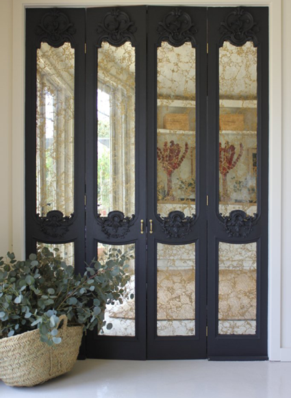 Would Be Cool If They Were Clear Glass Panels Going Into A Sunroom Or Formal Dining Room Highly Detailed Carved Wood With Antique Mirror Inserts
