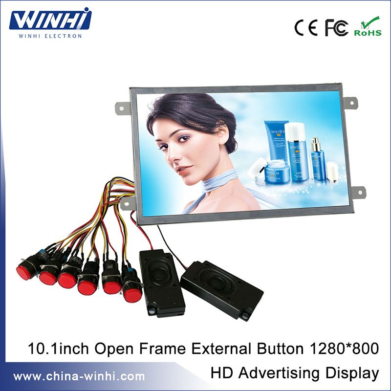 10 inch real 1080p shopping tv taxi lcd advertising display screen ...