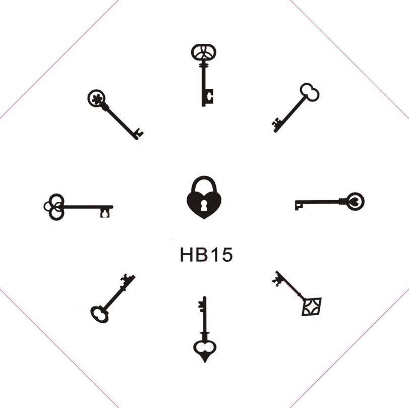 HB 15. Keys! and a heart-shaped lock.