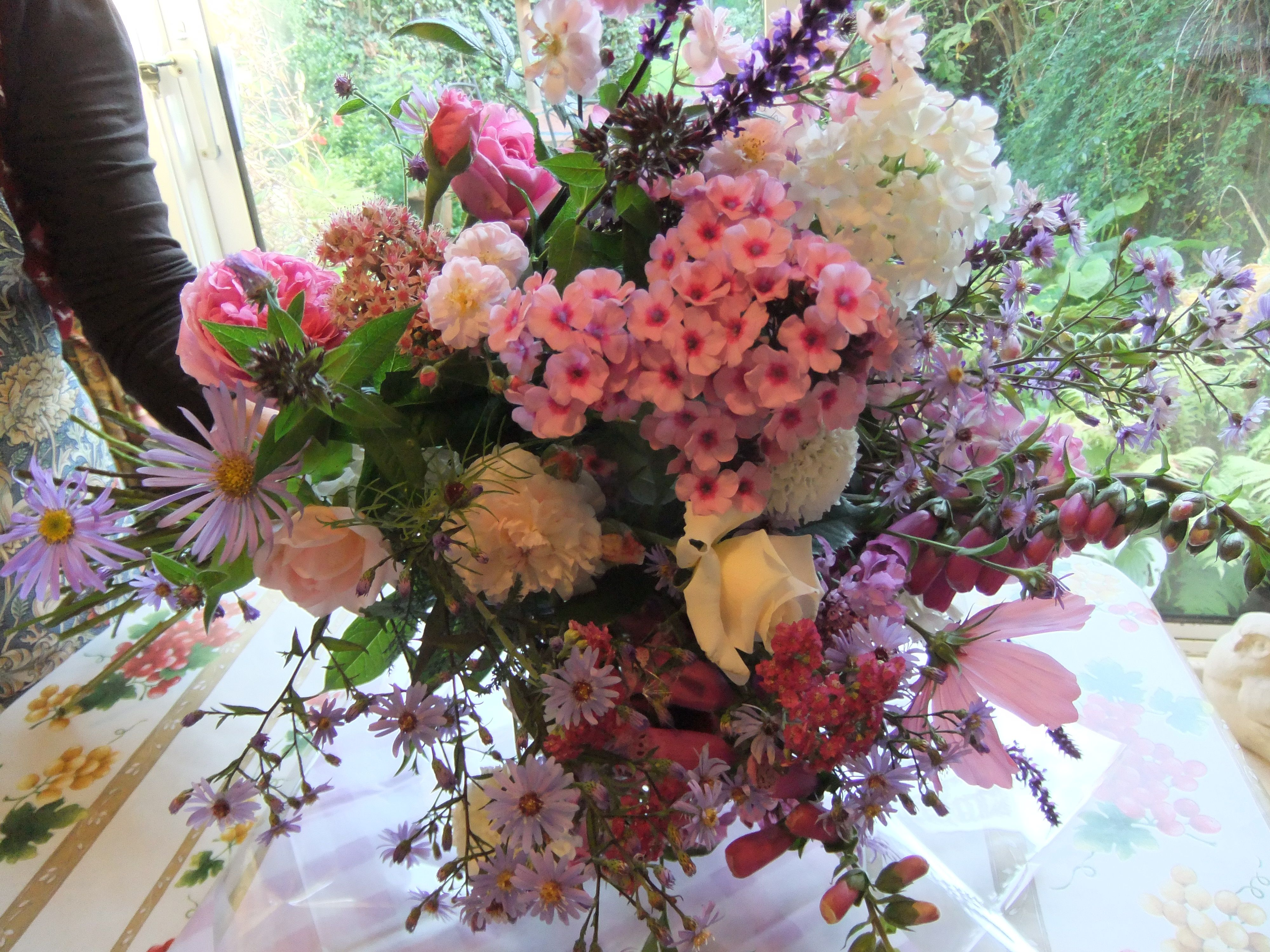 September Bouquet Of Our English Cottage Garden Flowers Phlox Roses Cosmos Foxgloves Country Garden Flowers Garden Wedding Flowers English Cottage Garden
