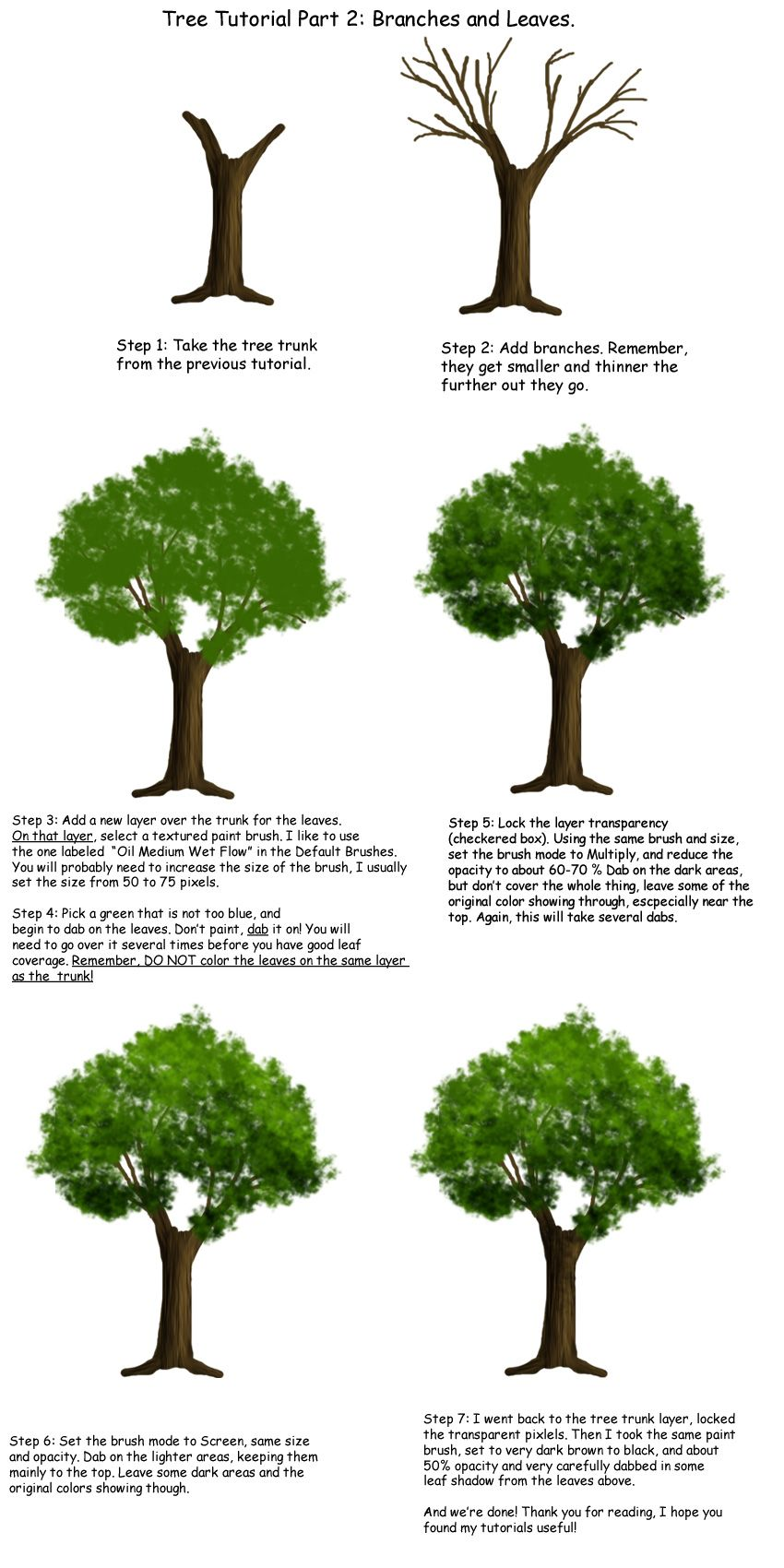Tree Tutorial Part 2 By Tephra76iantart On @deviantart