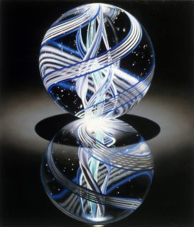 Solitaire Blue Marble Vi 1982 Oil On Canvas By Charles Bell Encantos Fotos