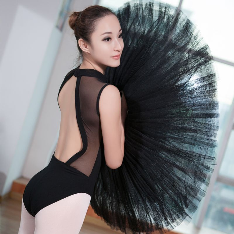 e6ff4c32c Sexy Women Black Lace Turtleneck Sleeveless Leotard Adult Girls ...