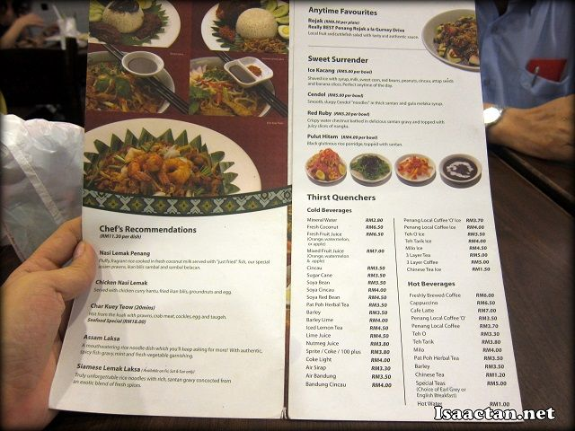 Little Penang Kafe Midvalley Megamall Menu In 2020 Penang Hot Drink Yummy Food