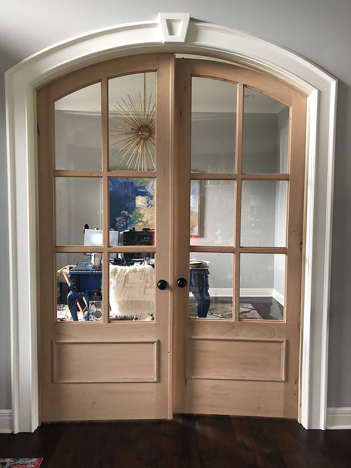 New French Doors For My Feminine Home Office Jennifer Allwood